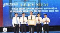 Bệnh viện Ung bướu Nghệ An đón nhận Bằng khen của Thủ tướng Chính phủ