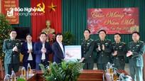 Phó Chủ tịch UBND tỉnh chúc Tết các đơn vị, gia đình chính sách ở huyện Quỳnh Lưu