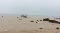 Tàu cá va vào bãi đá ngầm, 2 ngư dân được cứu sống trong đêm