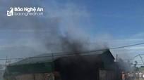 Nghệ An: Cháy nhà máy sản xuất lưới thép B40, kẽm gai