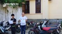Công an huyện Diễn Châu phá chuyên án trộm cắp xe máy