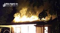 Nghệ An: Cháy nhà trong đêm, thiệt hại gần tỷ đồng