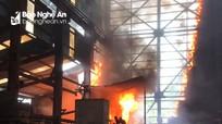Cháy dữ dội lò luyện thiếc thuộc Công ty Cổ phần Kim loại màu Nghệ Tĩnh