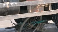 Ô tô 'nuốt' xe đạp vào gầm trên Quốc lộ 1A, hai mẹ con thoát chết hi hữu