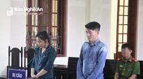 Cặp vợ chồng hờ từ Thái Nguyên vào Nghệ An vận chuyển hêroin