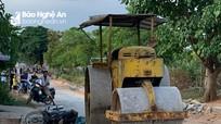 Nữ công nhân tử vong vì bị xe lu cán ở Nghệ An