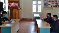 Đồn Biên phòng Cửa khẩu quốc tế Nậm Cắn phát hiện 2 người Lào nhập cảnh trái phép