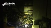 Tiệm photocopy tại thành phố Vinh bốc cháy trong đêm  
