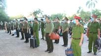 Công an Nghệ An tăng cường 100 cán bộ, chiến sĩ cho Diễn Châu phòng, chống dịch