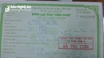 Thêm 1 tài xế ở Nghệ An bị phạt vì sửa Giấy xác nhận kết quả test nhanh Covid – 19