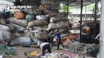 """Ô nhiễm và nguy cơ cháy nổ ở """"vựa"""" phế liệu của Nghệ An"""
