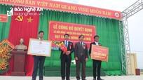 Xã Diễn Đồng (Diễn Châu) đón bằng đạt chuẩn nông thôn mới