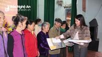 Báo Nghệ An và Tập đoàn Thiên Minh Đức, Công ty Hòa Hiệp trao quà Tết cho người nghèo ở Yên Thành