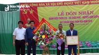 Thôn 2/9, Châu Khê - Con Cuông đón nhận danh hiệu đạt chuẩn nông thôn mới