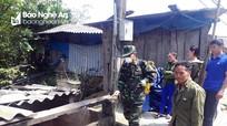 Bộ đội Biên phòng Nghệ An phòng chống dịch tả lợn xâm nhập qua biên giới