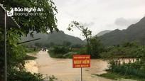 Nghệ An: Mưa lớn gây ngập úng cục bộ, sạt lở tại một số địa phương