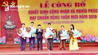 Xã Nghĩa Phúc (Tân Kỳ) đón nhận Bằng đạt chuẩn Nông thôn mới