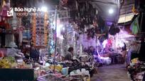 Cận tết, chợ sầm uất bậc nhất vùng biên Nghệ An vắng hoe khách do ảnh hưởng dịch Covid-19