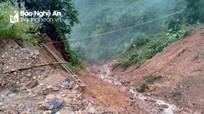 Nhiều xã vùng cao Nghệ An thiệt hại do mưa lớn