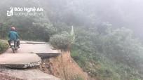 Tuyến đường tuần tra biên giới bị hư hỏng nặng sau mưa lũ