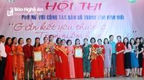 Phụ nữ Nghệ An lan tỏa thông điệp 'Kết nối yêu thương - Trọn niềm hạnh phúc'