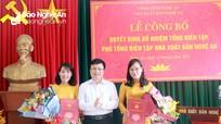 Trao Quyết định bổ nhiệm Tổng biên tập và Phó Tổng biên tập Nhà Xuất bản Nghệ An