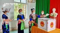 Hôm nay, cử tri 4 huyện vùng cao Nghệ An đi bầu cử sớm