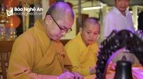 Ngày hội khai bút và cầu nguyện cho các phương tiện tham gia giao thông tại chùa Đức Hậu