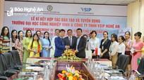 Trường Đại học Công nghiệp Vinh ký kết đào tạo, cung ứng lao động cho VSIP Nghệ An