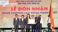 Bưu điện tỉnh Nghệ An đón nhận Huân chương Lao động hạng Nhất