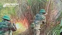 Tổng lực khống chế cháy rừng ở Nam Đàn