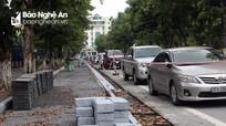 Tiếp tục cho phép thành phố Vinh thực hiện cải tạo vỉa hè làm nơi đậu xe