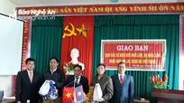 Các xã biên giới Kỳ Sơn và các cụm bản Lào phối hợp bảo vệ đường biên