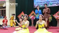 Học sinh miền núi sôi nổi hội thi hát dân ca
