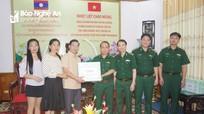 Lãnh đạo tỉnh Xiêng khoảng thăm BĐBP Nghệ An