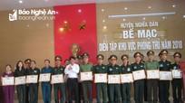Phó Chủ tịch HĐND tỉnh dự bế mạc diễn tập khu vực phòng thủ huyện Nghĩa Đàn