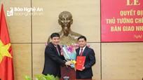 Bộ Chính trị và Thủ tướng Chính phủ chuẩn y Phó Bí thư, Chủ tịch UBND tỉnh Nghệ An