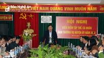 Hội nghị kiểm điểm của Ban Thường vụ Huyện ủy Tân Kỳ