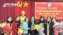 Đô Lương có tân Chủ tịch Hội Liên hiệp Phụ nữ