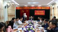 Trưởng ban Tổ chức Tỉnh ủy dự kiểm điểm Ban Thường vụ Huyện ủy Quỳnh Lưu