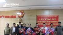 Công bố quyết định thành lập Trung tâm Văn hóa, Thể thao và Truyền thông huyện Con Cuông