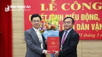 Nghệ An có tân Trưởng Ban Dân vận Tỉnh ủy