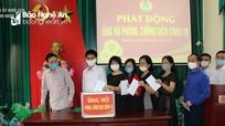 Cơ quan Đảng ủy Khối CCQ tỉnh ủng hộ phòng, chống dịch Covid-19