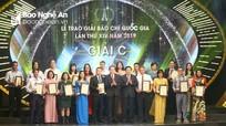 Hai phóng viên Báo Nghệ An được vinh danh tại lễ trao giải Báo chí Quốc gia năm 2019  
