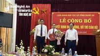 Phó Bí thư Thường trực Huyện ủy Nghi Lộc giữ chức Chủ tịch Liên minh Hợp tác xã tỉnh