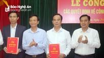 Quỳnh Lưu công bố các quyết định về công tác cán bộ