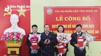 Nghệ An: Công bố quyết định bổ nhiệm các lãnh đạo Tòa chuyên trách