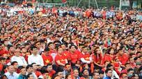 Lãnh đạo tỉnh Nghệ An cùng người dân cổ vũ đội tuyển U23 Việt Nam
