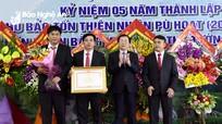 Khu bảo tồn thiên thiên nhiên Pù Hoạt đón nhận Bằng khen của Thủ tướng Chính phủ
