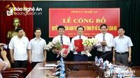 Nghệ An: Trao Quyết định bổ nhiệm Trưởng ban Tổ chức và Chánh Văn phòng Tỉnh ủy